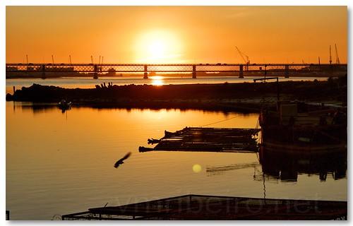 Pôr do sol no rio Lima by VRfoto