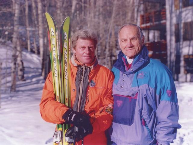 Stein Eriksen and Ted Heck