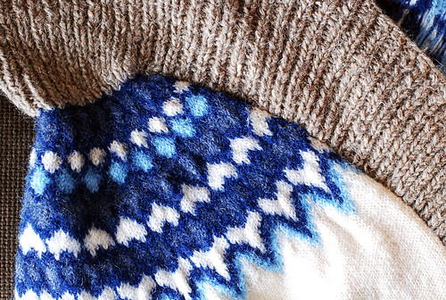 sweater reconstruction close-up