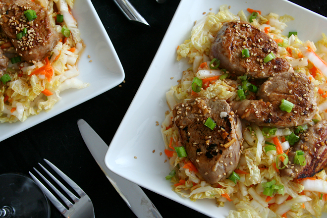 asian pork tenderloin with slaw 6