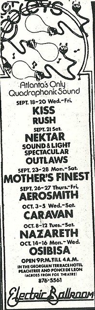 09/18 - 20/74 Kiss/ Rush/ Fat Chance @ Atlanta, GA