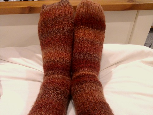 My first knitted pair of socks