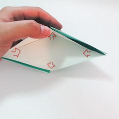 สอนวิธีการพับกระดาษเป็นรูปปลาฉลาม (Origami Shark) 005