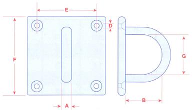 40205 Stainless Steel Eye Plate
