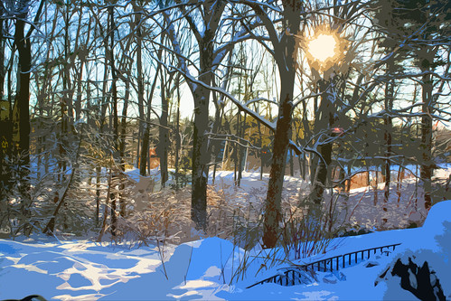 winter scene cutout 030