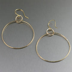 Chased Nu Gold Hoop Earrings