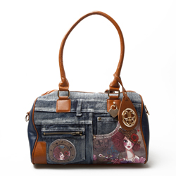 Bohembag cartera muñeca brown animal print