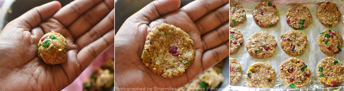 How to make oats raisin cookies - Step4