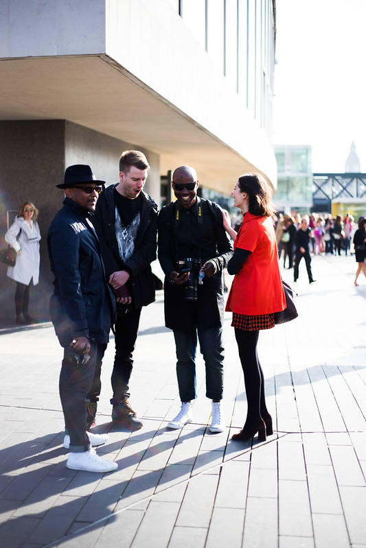 Street Style - Abdel Abdulai, Daniel Bruno Grandl, David Nyanzi & Andreea Bogdan, Vogue Festival