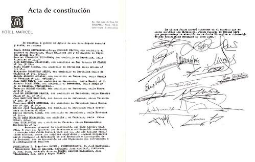Acta de Constitució, any 1967