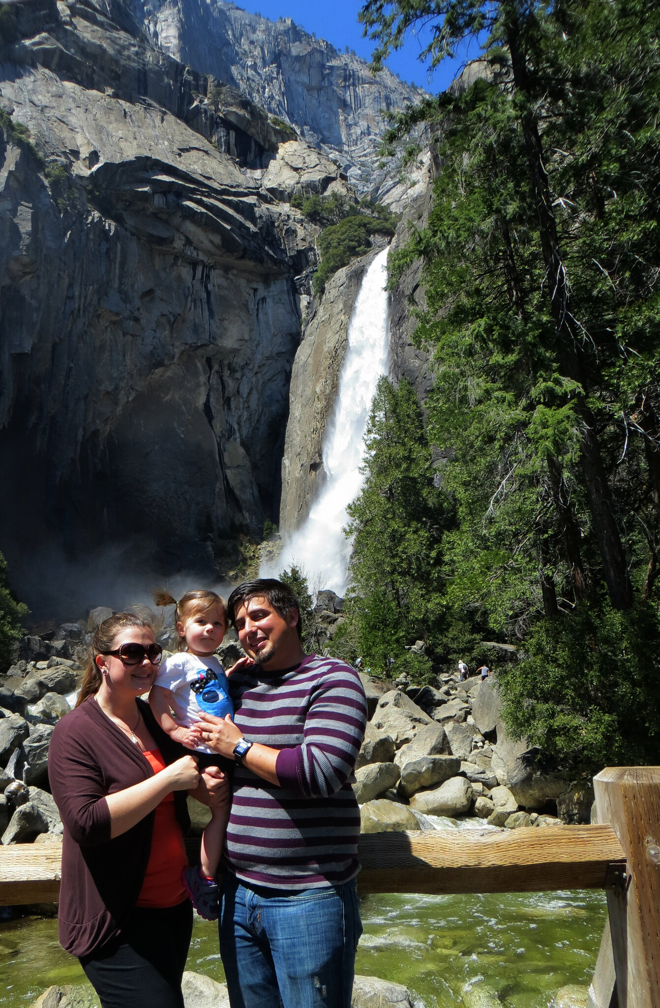 Lower Yosemite Falls Family Shot