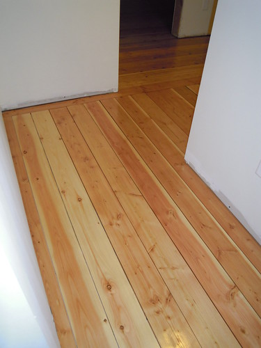 April 19 - Osmo oiled fir floor