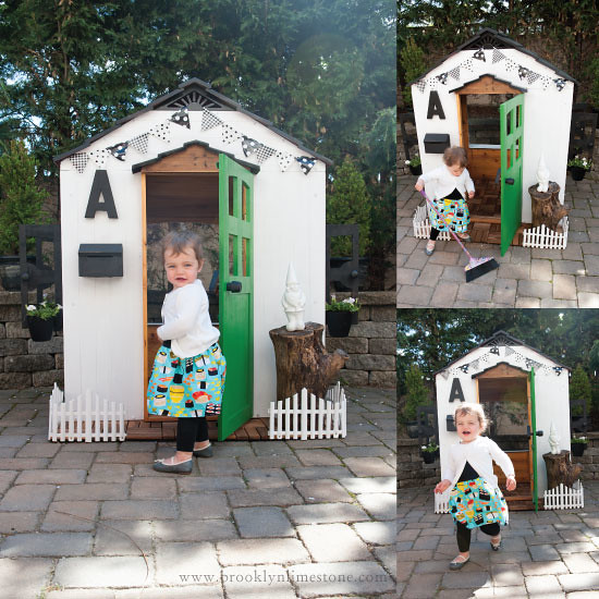 Take any Playhouse Kit or an old playhouse in your backyard and transform it into something stunning like this white playhouse perfect for small spaces