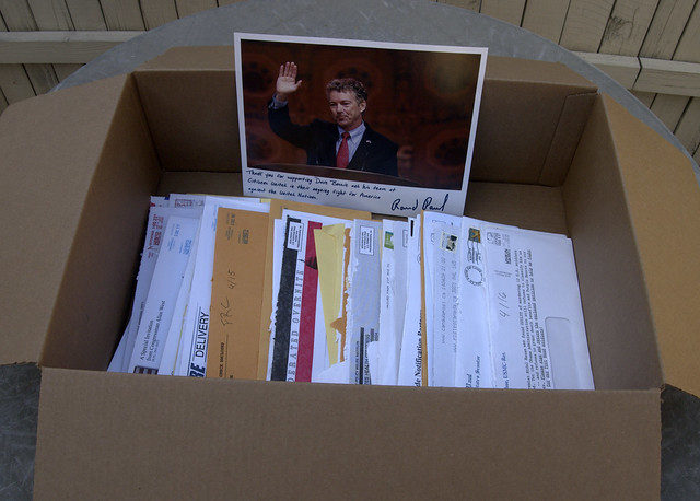 St. Rand guarding all that is left of this weeks junk mail