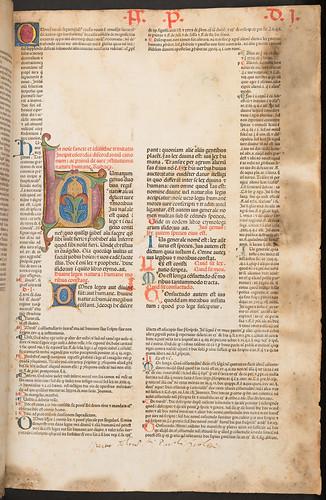 Illuminated initials in Gratianus: Decretum