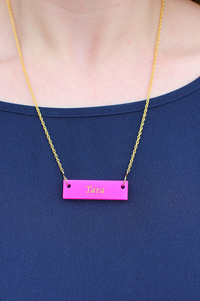 Pink Name Necklace