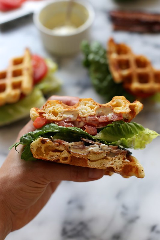Cheddar Buttermilk Waffle BLTs | Joy the Baker