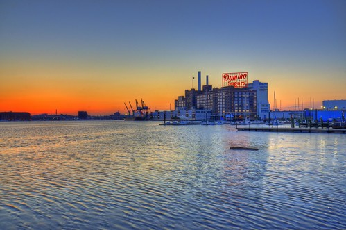 morning sign sunrise dawn twilight md maryland baltimore hdr highdynamicrange innerharbor patapscoriver dominosugars
