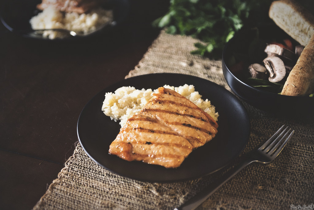Grilled Salmon with Brown Sugar Mustard Glaze - girl carnivore