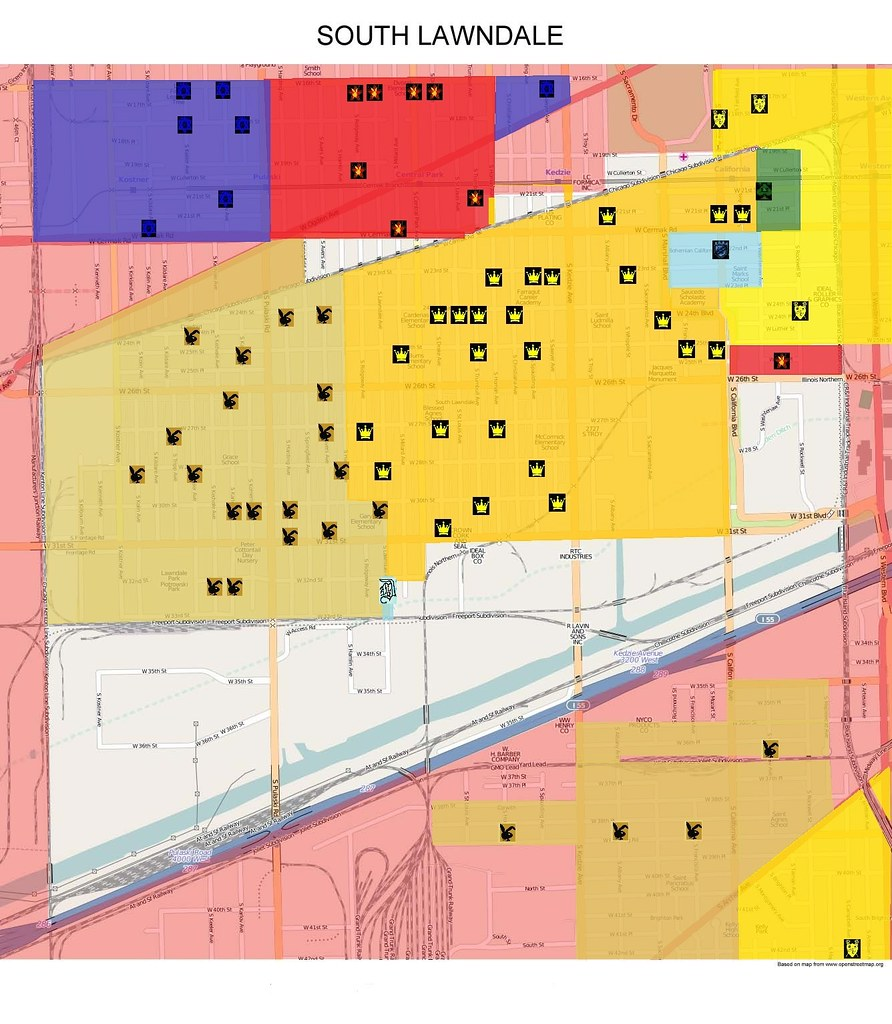South Lawndale Updated Gang Map 2015 | Map of South Lawndale… | Flickr