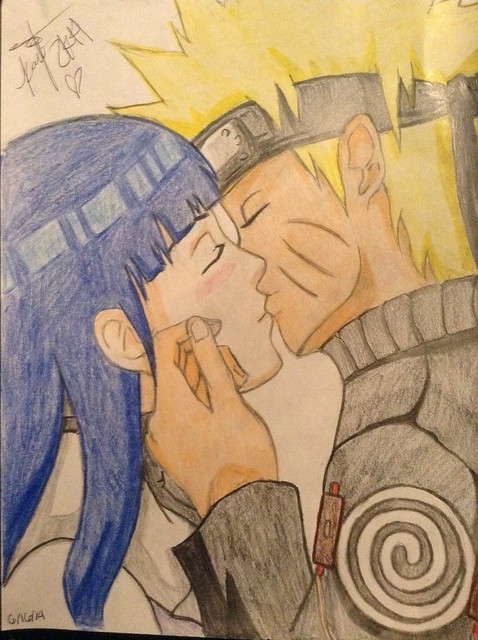 NaruHina???! Freehanded by Kayti!  -Kayti_the_Mangaka