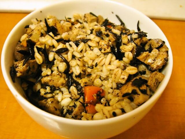 炒り高野+玄米ご飯