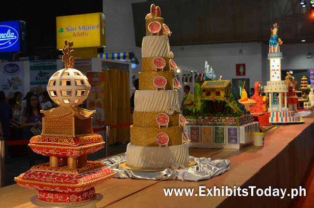 Closer look to the Beautiful cakes at the Bakery Fair 2015