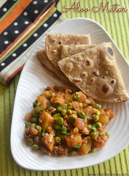 Easy Aloo Matar Recipe (Dry Aloo Mutter Curry)