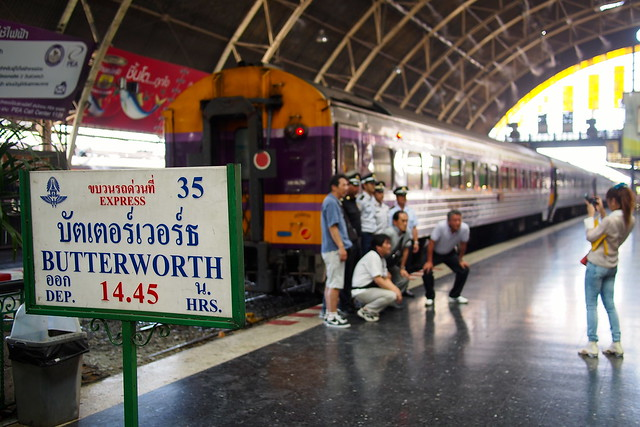 Train from Bangkok, Thailand, to Butterworth, Malaysia