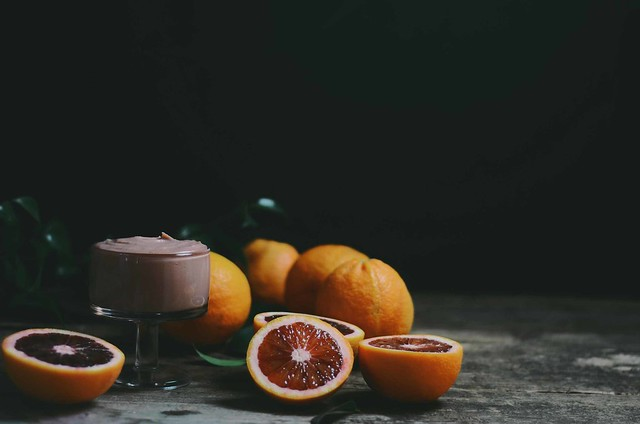 blood orange curd with honey bourbon   A Brown Table
