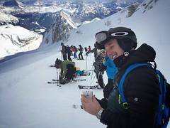 Skiing down the Marmolada