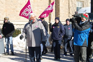 Rally and information picket at Queen's University