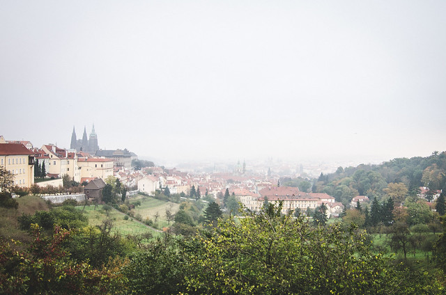 The epic view from Strahov Monastery, hindered a bit by the fog.
