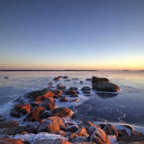 park blue sun ice rock canon suomi finland landscape island eos pattern angle wide salt january clear weathered swirl katarina kotka 2015 photomatix 1200d