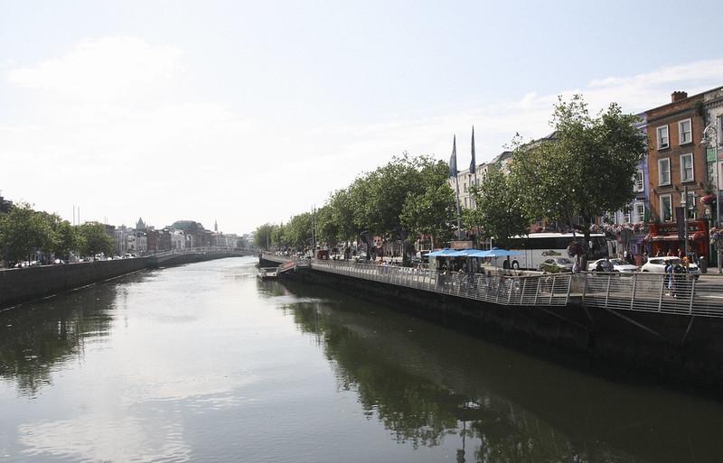dublin at the river liffey