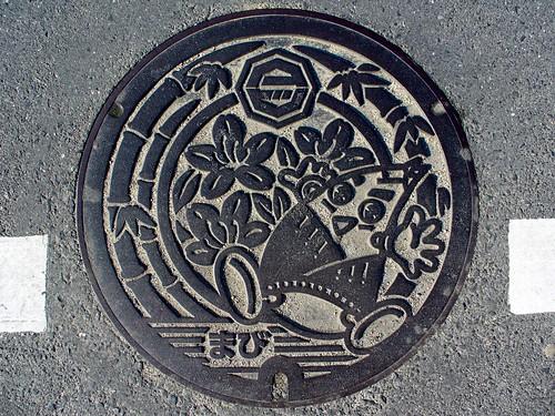 Mabi Okayama, manhole cover (岡山県真備町のマンホール)