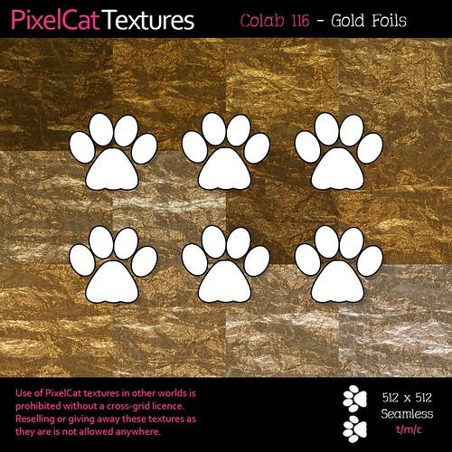 PixelCat Textures - Colab 116 - Gold Foils