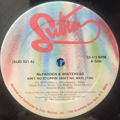 MCFADDEN & WHITEHEAD:AIN'T NO STOPPIN'(AIN'T NO WAY)(LABEL SIDE-A)