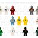 "LEGO: The ""Monochrome"" Minifig Alphabet by iggugak"