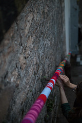 Yarn bombing Besançon 18