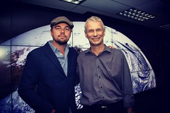 Leonardo DiCaprio visited Goddard Saturday to discuss Earth science with Piers Sellers