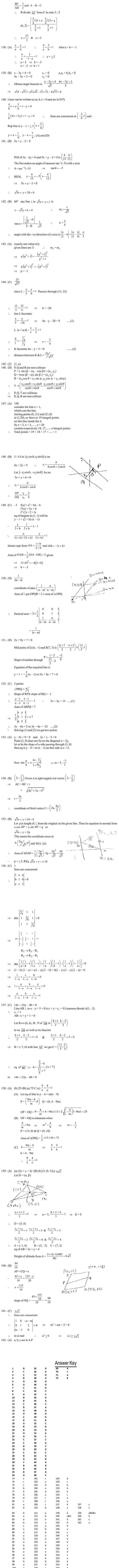 JEE Question Bank Maths - Line and Lines