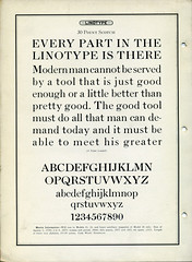 Linotype Scotch Type Specimen