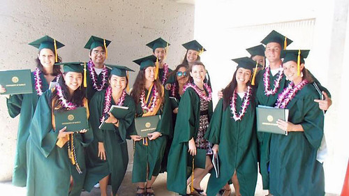 <p>Global environmental science graduates at the University of Hawaii at Manoa commencement ceremony. May 11, 2013.</p>
