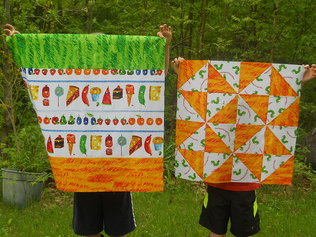 Hungry Caterpillar baby quilt