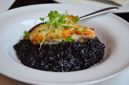 Monkfish with Black Rice
