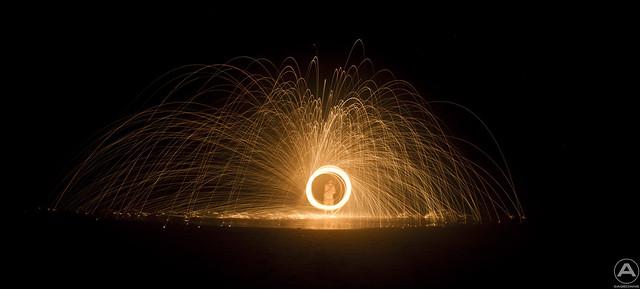 Fireball in the water
