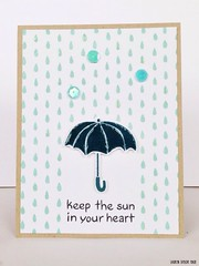 Iron Craft Challenge #11: Rainy Days - Keep the Sun in Your Heart card