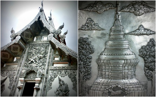 Detail of the Silver temple in Chiang Mai, Wat Sri Suphan
