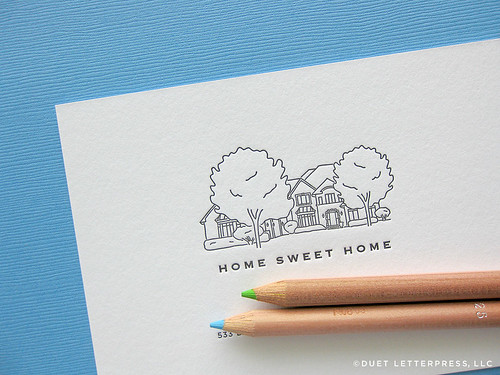 custom sketch moving announcement // house no. 45